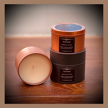 Masculine Scents - Medium Rose Gold Tin Candle 30 - 50 Hours