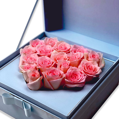 心心相印情人節盒裝玫瑰花 Heart & Soul valentine's day box flower