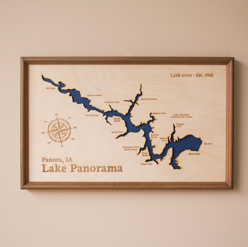 Lake Panorama Map