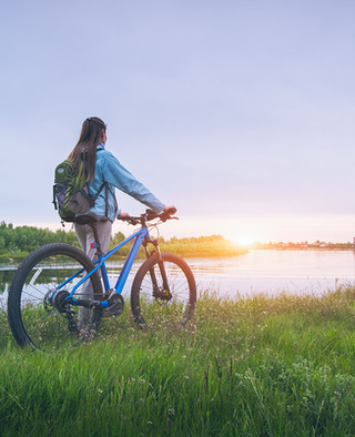 biking at pentalago
