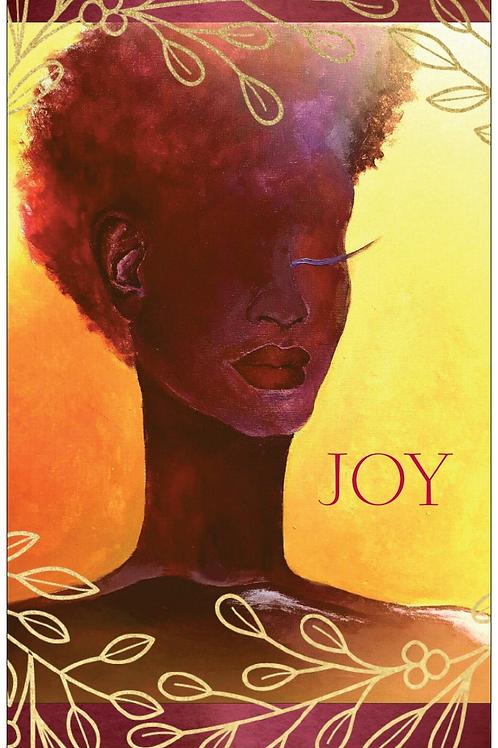 Gold Joy Greeting Card