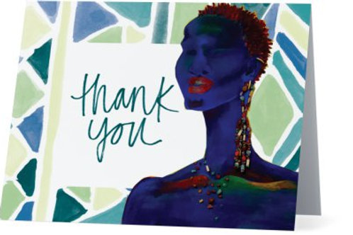 Royal Green Thank You Cards