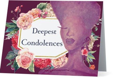 Violet Condolence Note Card