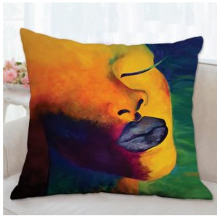 Serene Kente Print Pillow