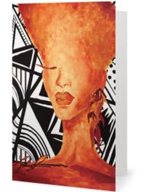 Tangerine Ziggy Greeting Card