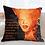 Thumbnail: Tangerine Mudcloth Print Pillow