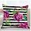 Thumbnail: Violet Queen Floral Stripe Pillow