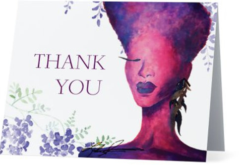 Lilac Thank You Cards