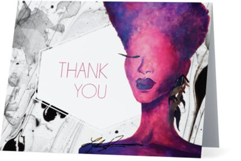 Marbled Violet Thank You Cards