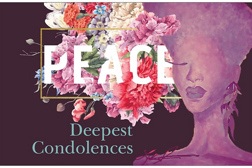 Peace Condolence Card
