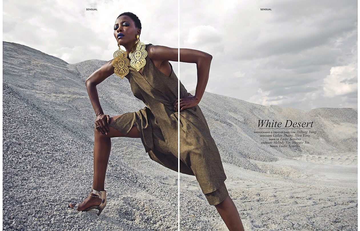 Long dress elegant magazine