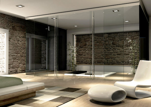 parete in vetro vitralglass vitraldesign