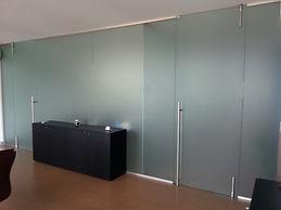 parete divisorain vetro vitral design