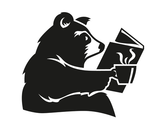 West End Coffee Bear Illustration