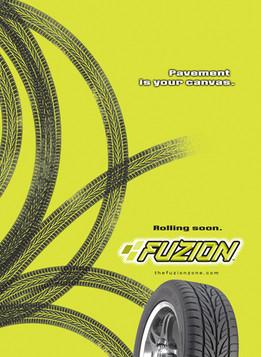 Fuzion Tire Launch Ad
