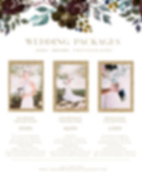 wedding, price list, ashli brooke photography, wedding price list