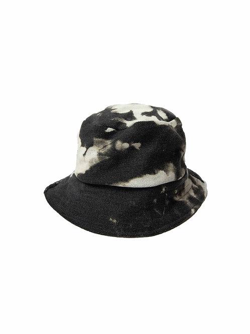 Reversible Black/Beige Bucket Hat