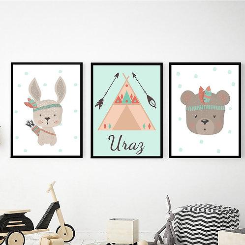 Tavşan ve Ayıcık İsimli Set