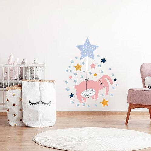 Tavşan ve Yıldızlar Sticker Set