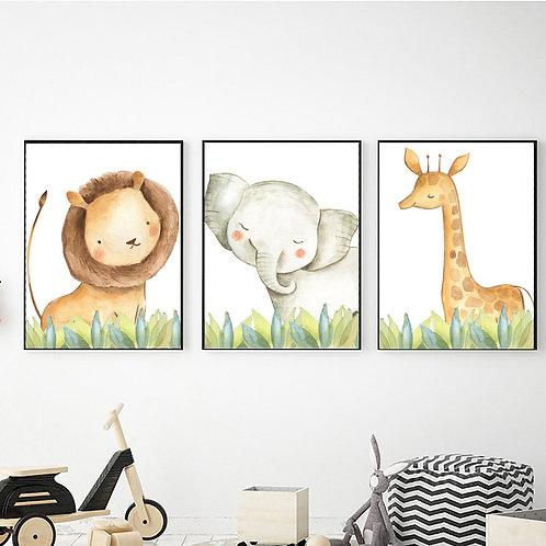 Aslan-Fil-Zürafa 3'lü Set