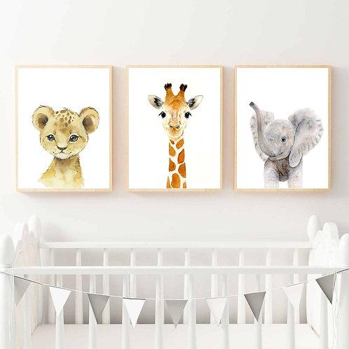 Sevimli Hayvan Yavruları 3'lü Set