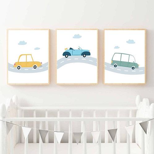 Arabalar 3'lü Set
