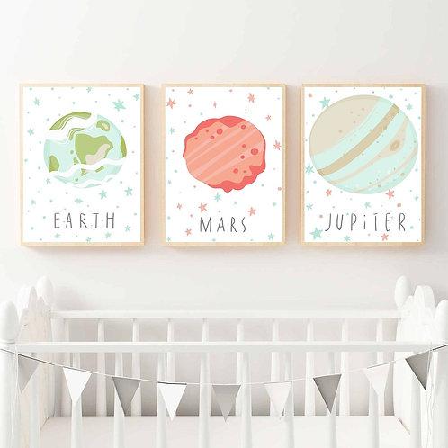 Gezegenler Temalı 3'lü Set