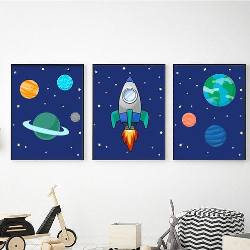 Uzay Temalı 3'lü Set