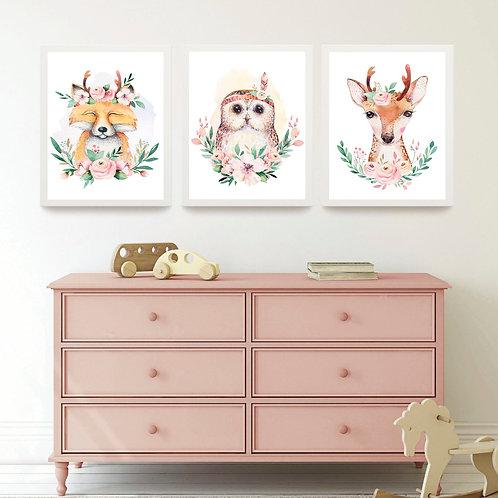 Çiçekli Hayvanlar 3'lü Set