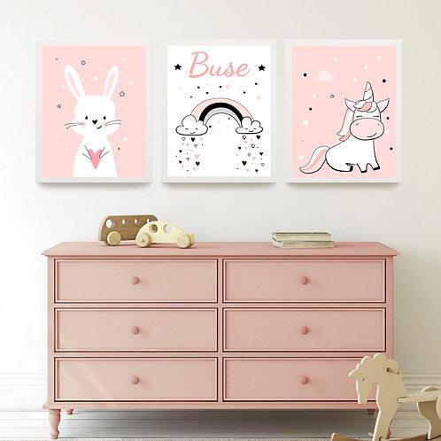 Tavşan ve Unicorn İsimli set