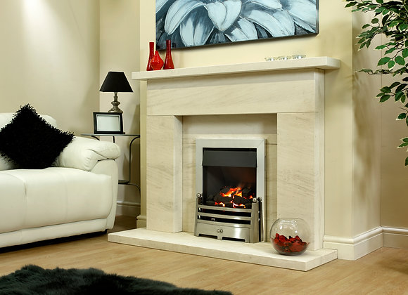 Byland Limestone Fireplace