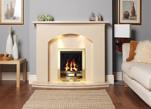 Classic Arch Marble Fireplace