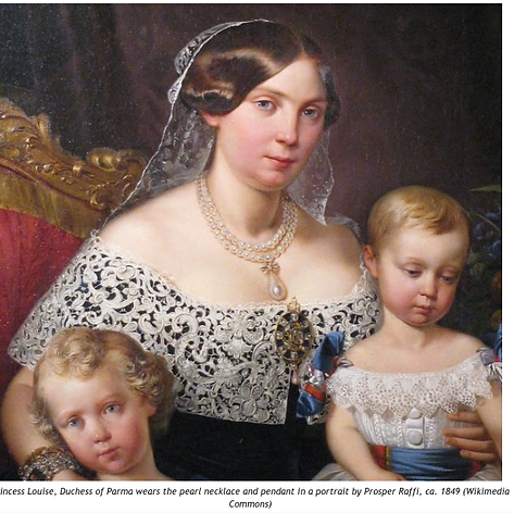 Princess Louise of France, Dutchess of Parma 1849 wearing the pearl