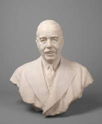 Joseph Duveen, Baron Duveen  by Sir William Reid Dick stone bust, 1933 27 1/2 in. (699 mm) high Given by the sitter's widow, 1939 Can be Found At the National Portrait Gallery, London