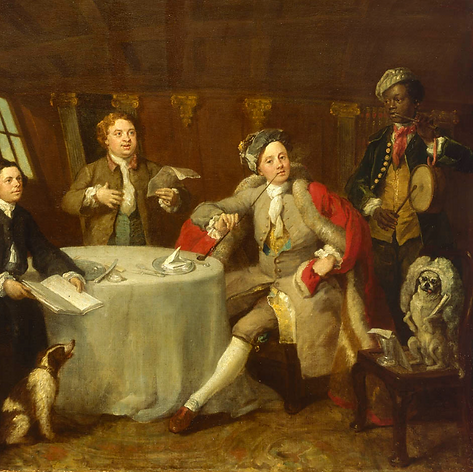 William Hogarth, Captain Lord George Graham in His Cabin, 1745