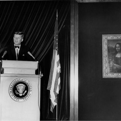 JFK with the Mona Lisa
