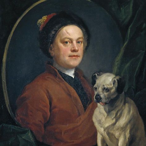 William Hogarth, The Painter and His Pug, 1745