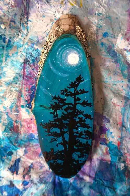 Moon Swirl Tree Slice Mini