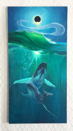 'Waves of Change' 24x48_ acrylic on Birc