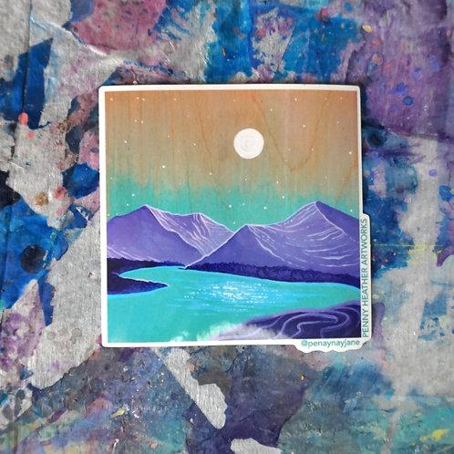 Purple Mountain - Sticker