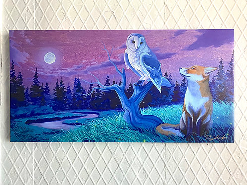 Nights Companions - Stretched Canvas - Ready To Hang