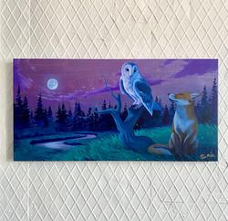 'Nights Companions' Acrylic on Birch Pan