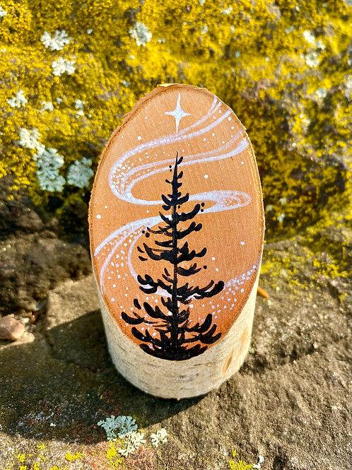 Tiny Freestanding Ornament on Birch