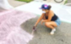 Penny Heaher Artist spray painting, graffiti, mural, spray paint artist fredericton