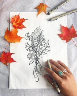Birth Flower Tattoo Design