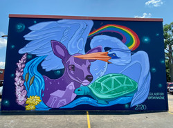 Downtown Fredericton mural