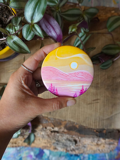 Pink & Yellow Button Magnet