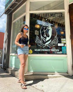 Black Lives Matter Window Mural at The C
