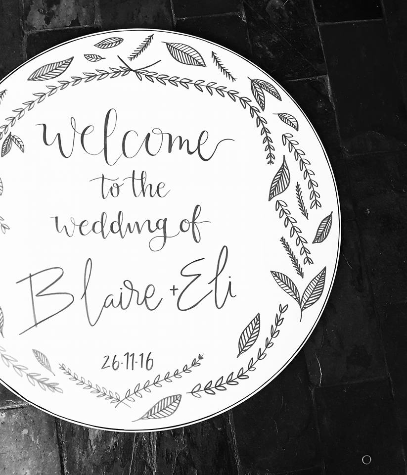 Circle Wedding Sign