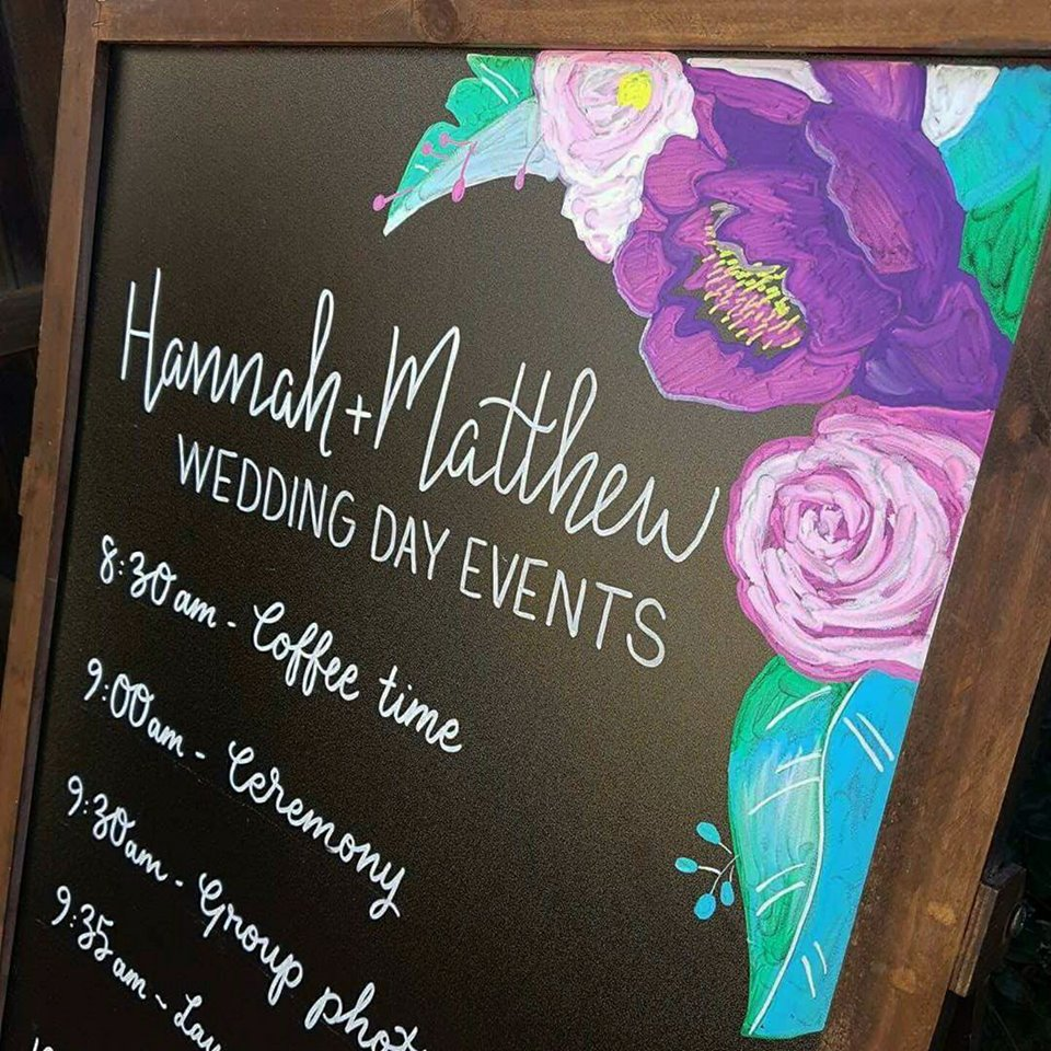 Wedding Timeline Sign
